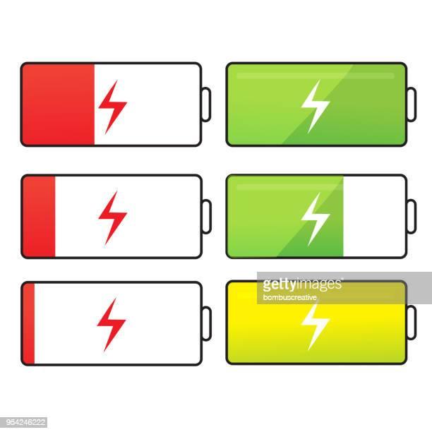 バッテリー セット - チャージする点のイラスト素材/クリップアート素材/マンガ素材/アイコン素材