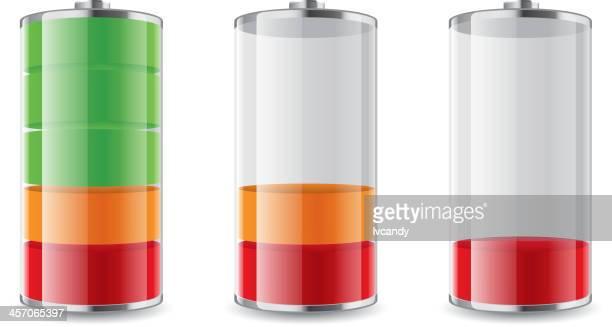 illustrazioni stock, clip art, cartoni animati e icone di tendenza di simbolo batteria - attaccante