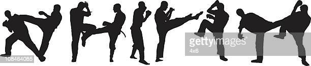 battle against all odds - fighting stance stock illustrations, clip art, cartoons, & icons