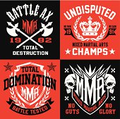 Battle MMA emblem set