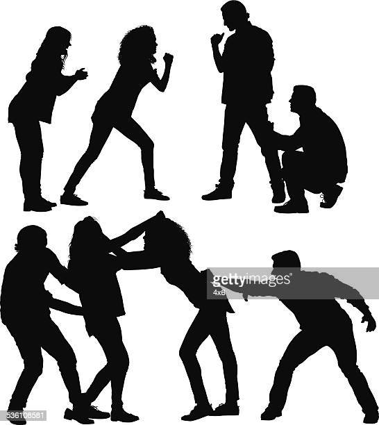 battle of the sexes - sexual harassment stock illustrations, clip art, cartoons, & icons