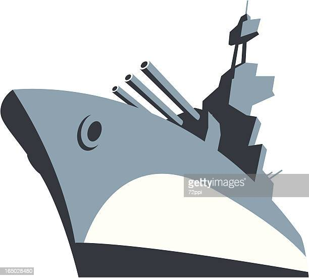 battle ship - warship stock illustrations
