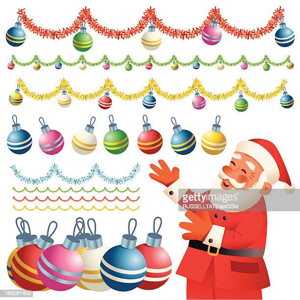 baubles galore - tinsel stock illustrations