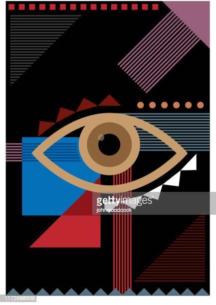 バウハウス ダークアイイラスト - 検眼医点のイラスト素材/クリップアート素材/マンガ素材/アイコン素材