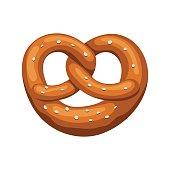 Bavarian pretzel icon