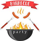 Bbq or barbecue party invitation
