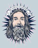 Be gentle everyday. Bearded man illustration