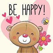 Be Happy Greeting card Teddy Bear