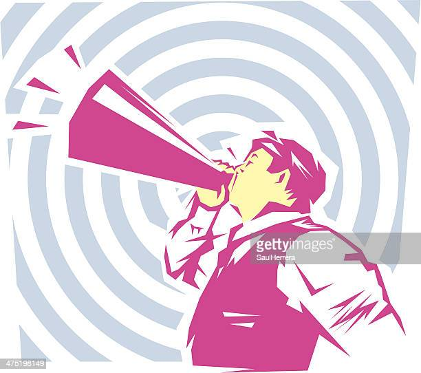 ilustrações, clipart, desenhos animados e ícones de seja ouvido - persuasão