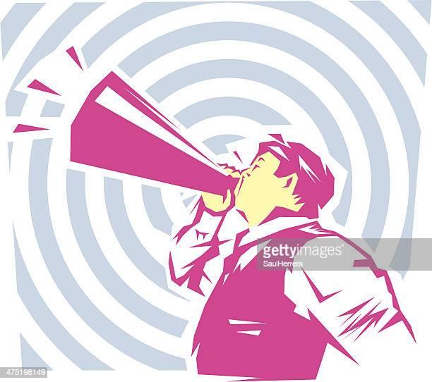 be heard - persuasion stock illustrations