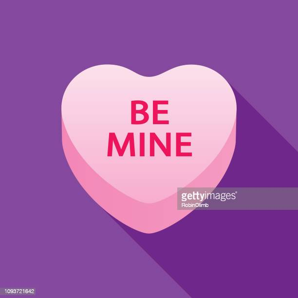 be mine valentine candy heart icon - valentine card stock illustrations