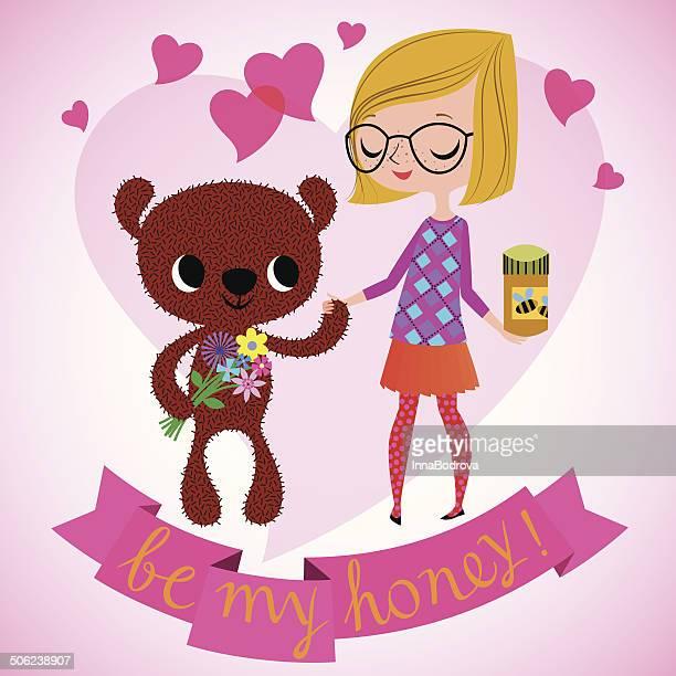 be my honey. - boyfriend stock illustrations, clip art, cartoons, & icons