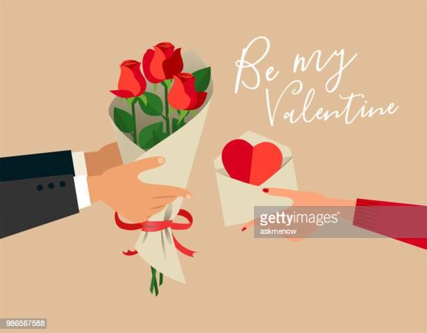 be my valentine - valentine card stock illustrations