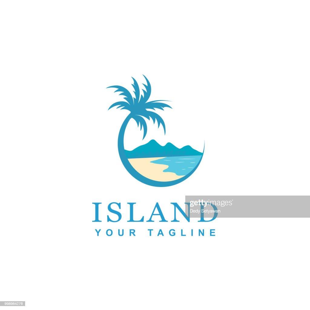 beach and island icon design