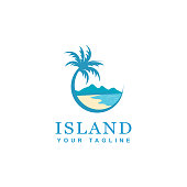 beach and island icon design