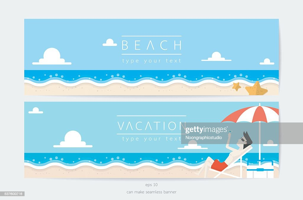 beach and sky in vacation time