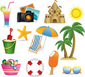 Beach and Summer icon collection
