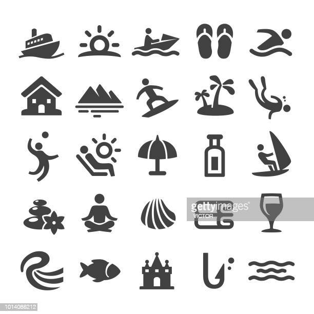 Beach and Vacation Icons - Smart Series
