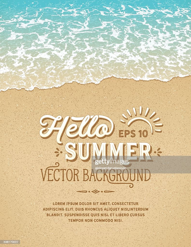 Beach Background : stock illustration