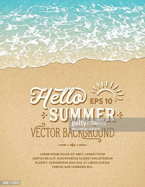beach background - water's edge stock illustrations