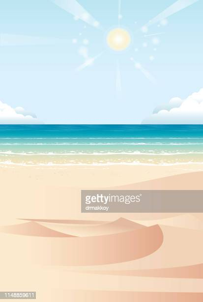 illustrations, cliparts, dessins animés et icônes de fonds de plage et sable - sable