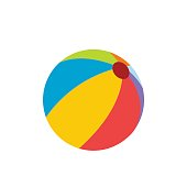 Beach ball flat icon