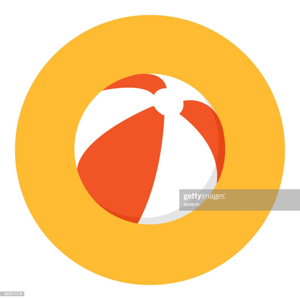 Beach ball icon vector illustration