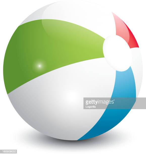 beach ball illustration - beach ball stock illustrations, clip art, cartoons, & icons