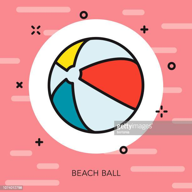 Beach Ball Thin Line Summer Icon