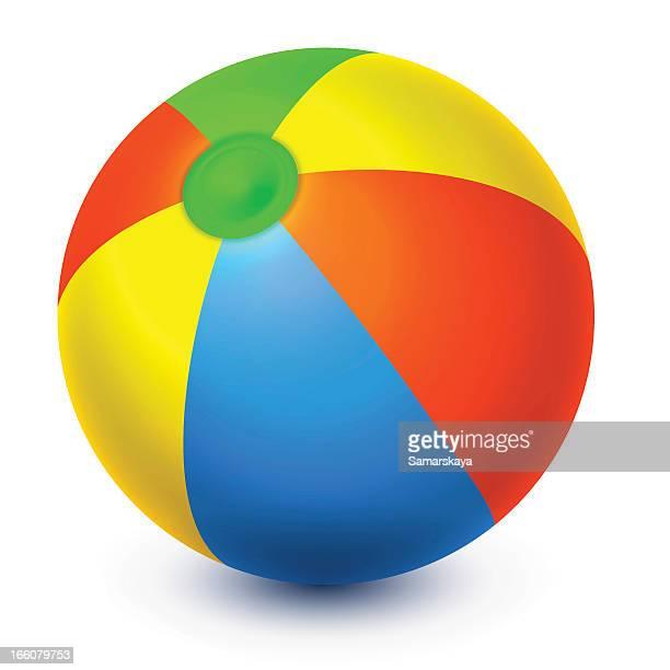 ilustraciones, imágenes clip art, dibujos animados e iconos de stock de pelota de playa - pelota