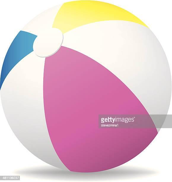 beach ball - beach ball stock illustrations, clip art, cartoons, & icons