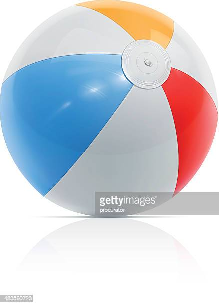 beach ball - rubber stock illustrations, clip art, cartoons, & icons