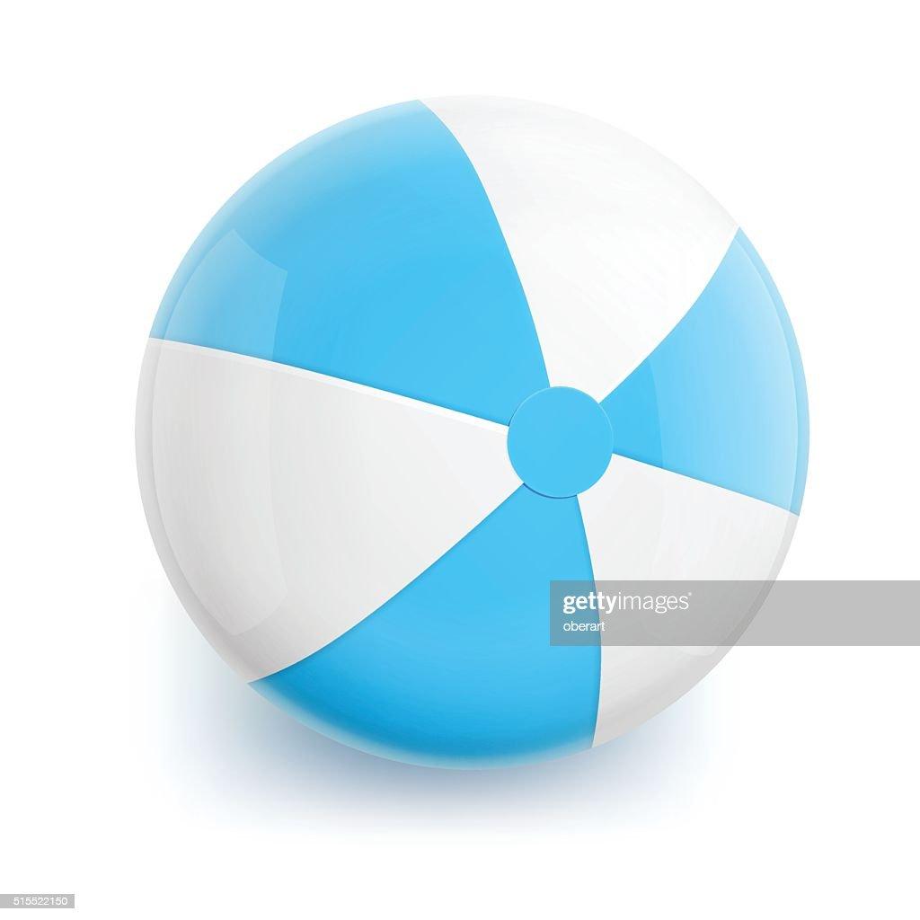 Beach Ball with Blue Stripes
