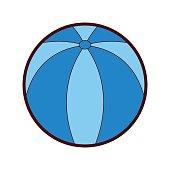 beach balloon isolated icon