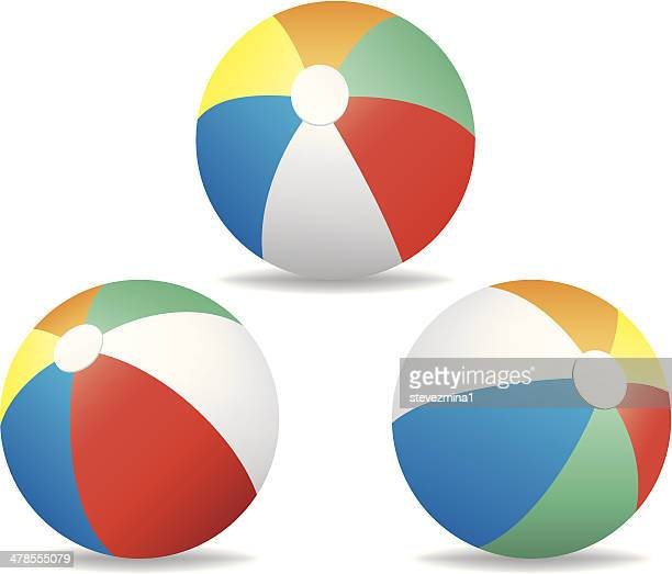 beach balls - beach ball stock illustrations, clip art, cartoons, & icons