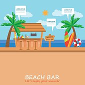 beach bar background