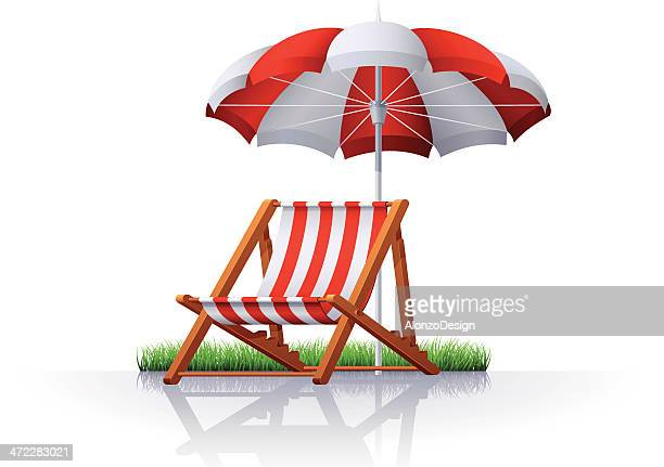 Beach Chair and Parasol