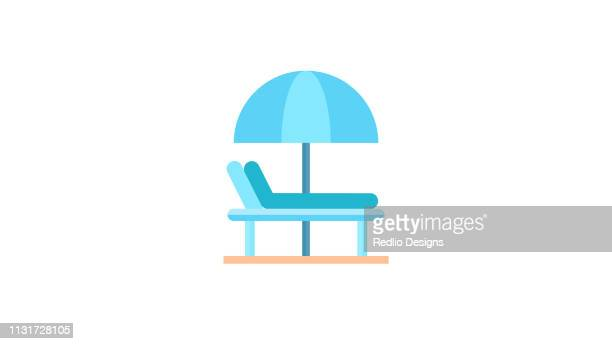 Beach chair and umbrella Icon