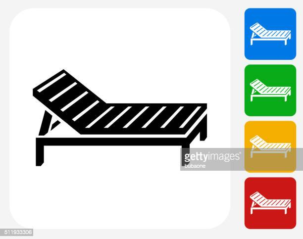 Strandstühle Symbol flache Grafik Design
