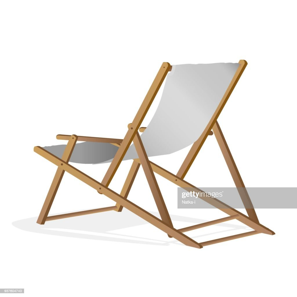 beach chair over white background