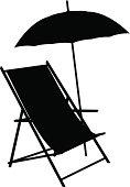 Beach Chair Silhouette
