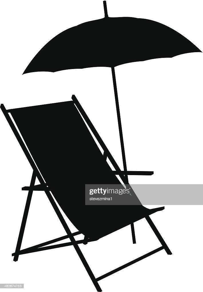 Beach Chair Silhouette Vector Art   Getty Images