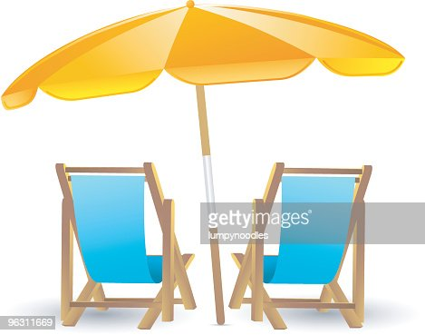 Beach chairs vector art getty images voltagebd Gallery