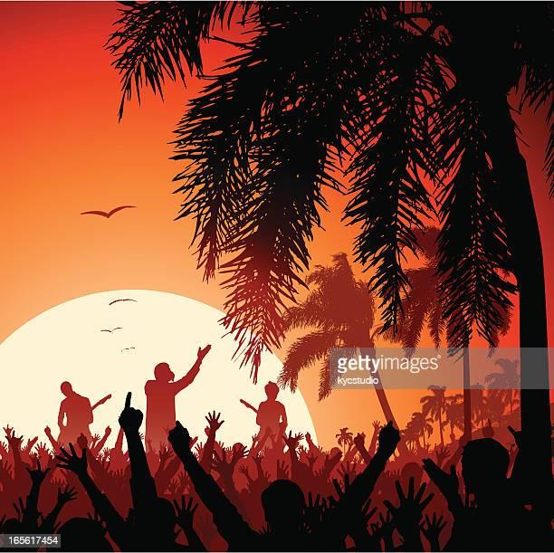 Beach Concert at Sunset