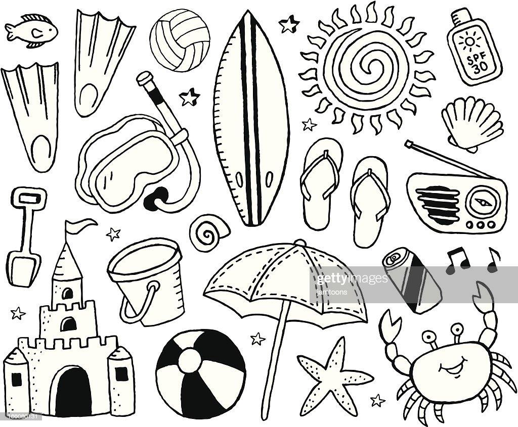Beach Doodles