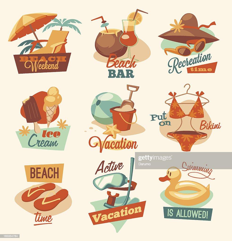 Beach emblems