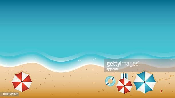ilustraciones, imágenes clip art, dibujos animados e iconos de stock de playa desde arriba - marea
