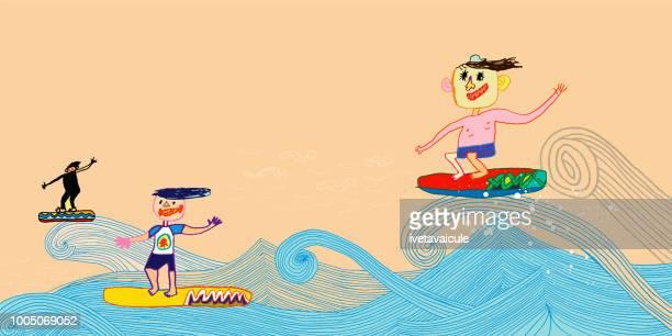 Beach fun and surfing