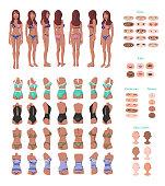 Beach Girl Character Creation Set