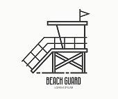 Beach Guard Logo Template